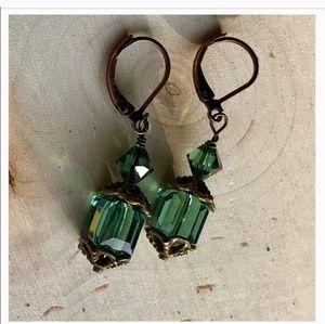 SWAROVSKI Erinite cube earrings